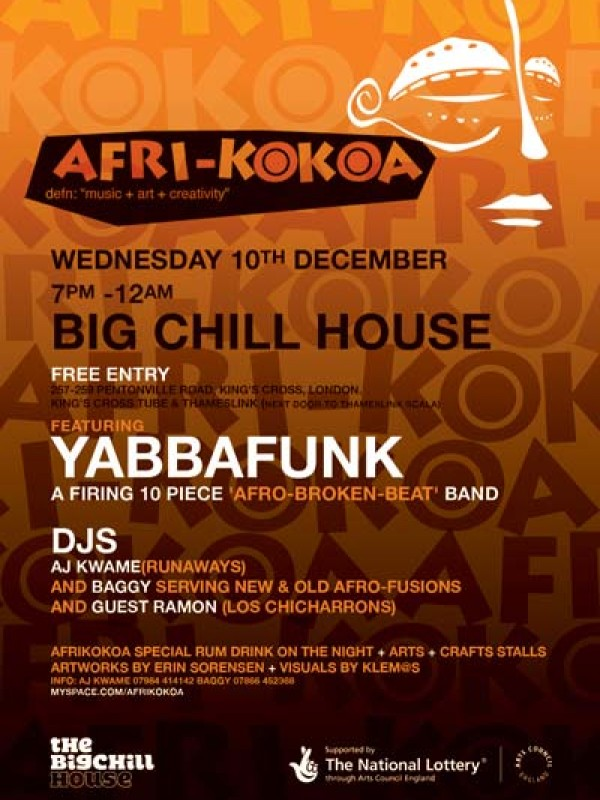 Featuring Yaaba Funk & guest DJ Ramon, 10th Dec 2008