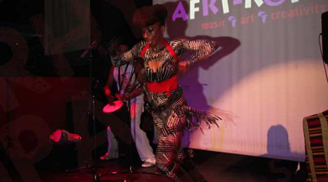 Wunmi dances at AFRI-KOKOA