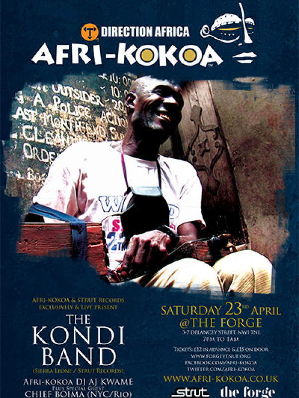 The Kondi Band – Sat 23rd April 2016